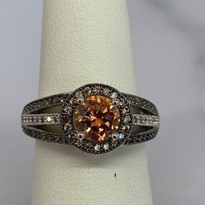 RS Covenant Sparkling Clear & Amber CZ Ring